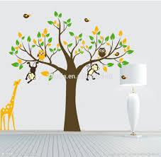 wall art stickers for kids home design ideas monkey tree giraffe vinyl wall stickers kids baby children decor home wall paper decal deco art