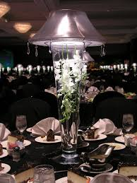 Trumpet Vase Wedding Centerpieces by Lit Lampshade Over Trumpet Vase With Submerged Florals Crazy
