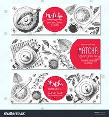 vector illustration tea shop horizontal banner stock vector