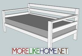how to make a daybed frame diy daybed plans best 25 ideas on pinterest daybeds and sleep 7