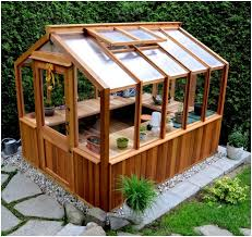 Small Backyard Greenhouse by Backyards Bright Freestanding Wood Frame Greenhouse By