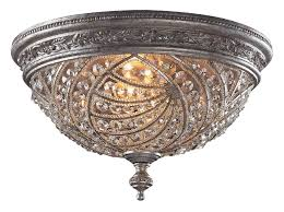 lighting 6232 4 crystal renaissance flush mount ceiling fixture