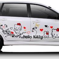 barang sejenis stiker mobil kitty flowers bukalapak