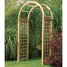 forest garden florence arch fsc treated timber trellis side panels