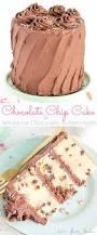 chocolate chip cake whipped chocolate buttercream