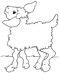 coloring pages baby lamb sheep free download