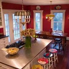 Red Kitchen White Cabinets Home Decor Pictures Only Updated Often Kitchens House And Red