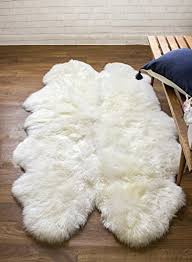Lambskin Rugs Large Sheepskin Rugs Amazon Com