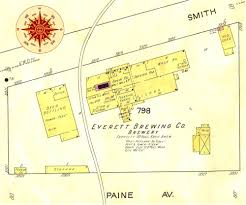 Seattle Brewery Map by History Of The Everett Brewing Company