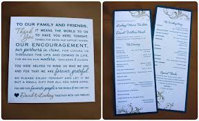wedding reception programs teal gold swirls border belly band wedding invitations