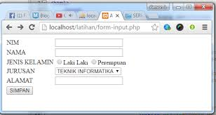 membuat form html online cara input data dari form dengan php mysql belajarphp net