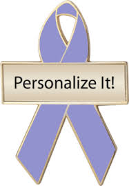 custom awareness ribbons lavender custom awareness ribbons ribbon pins