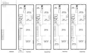 row home plans pretentious 9 brownstone home plans brownstone row house plans