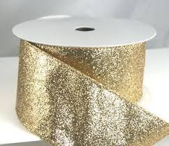 silver glitter ribbon wired glitter christmas ribbon 40 2 1 2 gold silver