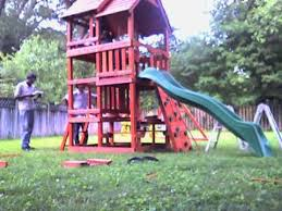 How To Build A Backyard Swing Assembly Of A Highlander Wooden Swing Set By Hands For You