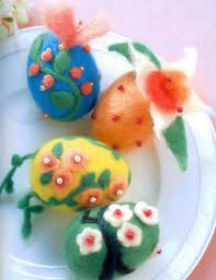 Easter Egg Decorating At Home by Easter Egg Decorating Wool Felt Beads Flower Motifs