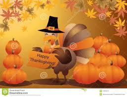 thanksgiving turkey pumpkin greeting car stock image