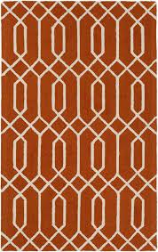 Orange Modern Rugs Modern Rug Impression Awip 2191 Orange Ivory Contemporary Rug