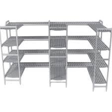 etagere pour chambre froide rayonnage aluminium anodisé clayette polypropylène 5 niveaux p