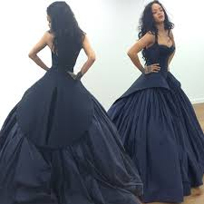 gown style dresses new arrival rihanna same style prom evening dress navy blue