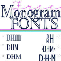 initial fonts for monogram free monogram fonts in my own style