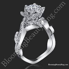 diamond flower rings images Lotus ring with leaves 90 ctw diamond flower ring bbr587 jpg