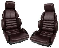 corvette seat covers c4 c4 corvette 1993 leather like sport seat covers ruby set