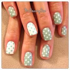 seafoam mint green u0026 white polka dot nails colors used gelish