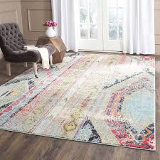 Affordable Area Rugs by Safavieh Monaco Collection Mnc222f Modern Bohemian Erased Weave