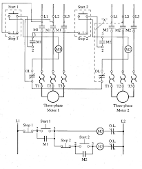 sequence controls for motor starters