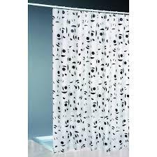 textil duschvorhang ringe 120x200 weiss schwarz bad dusche vorha