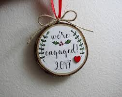 engagement ornament engaged christmas ornament engagement