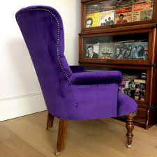 Armchair Velvet Napoleonrockefeller Com Collectables Vintage And Painted Furniture