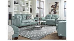2 399 99 marcella spa blue leather 3 pc living room classic