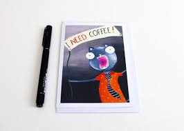 mens birthday cards for men sarcastic cats and coffee birthday