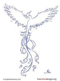 ice phoenix tattoo design photo 1 photo pictures and sketches