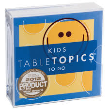 table topics for kids conversation starter game for kids tabletopics