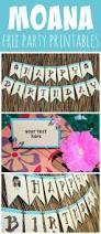 free disney moana birthday party printables party printables