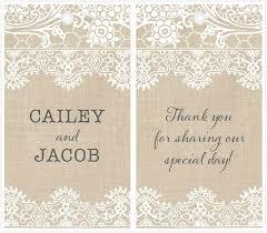 wedding favor tags burlap lace wedding favor tags featuring alana font