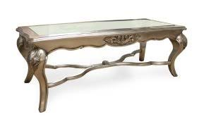 french style coffee table french style furniture lila midid glass top coffee table silver