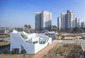 the flying house by iroje khm architects has landed near incheon