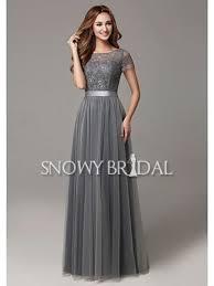a line bridesmaid dresses garden modest fall grey lace a line bridesmaid dress us