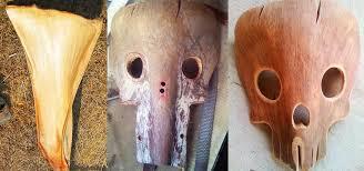 yard waste u003d free halloween costume how to make creepy masks from