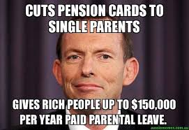 Single People Meme - cuts pension cards to single parents gives rich people up to