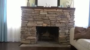 New Stone Veneer Panels For by Install Stone Veneers Over Old Brick Fireplace Diy Youtube