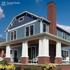 this two story home combines lp smartside cedar shakes with lp