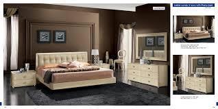 Italian Double Bed Designs Wood La Star Beige Comp 3 W Plano Bed Bedroom Modern Bedrooms