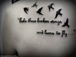 image result for quotes about wings tattoos