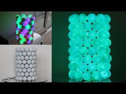 how to make an illuminated ping pong ball lamp youtube