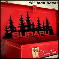 jdm subaru stickers subaru decal custom vinyl forest silhouette graphic door or